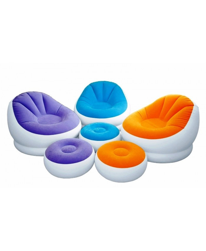 SILLÓN INFLABLE CHAISE P/CAFE 1.04X1.09X0.71CM INTEX