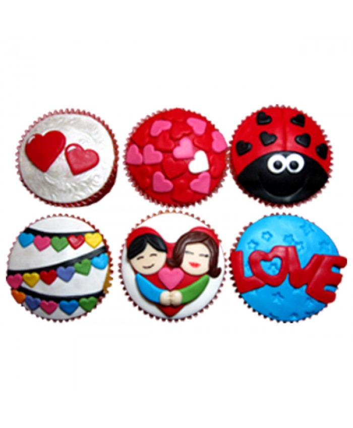 6 CUPCAKES DECORADOS