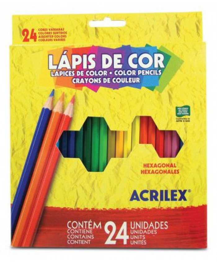LÁPICES DE COLORES ACRILEX -  (24 COLORES)