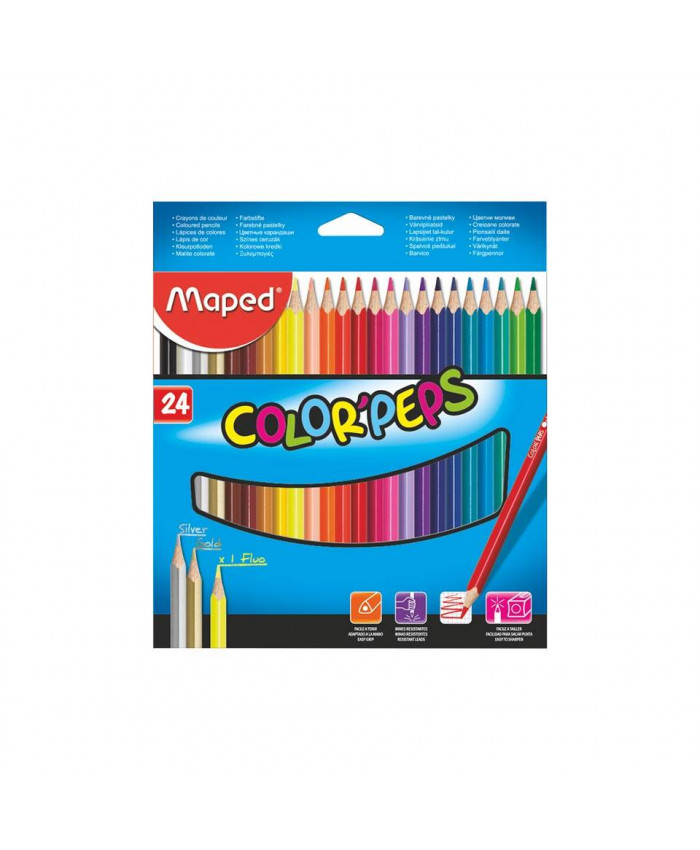 LAPICES DE 24 COLORES LARGO MAPED