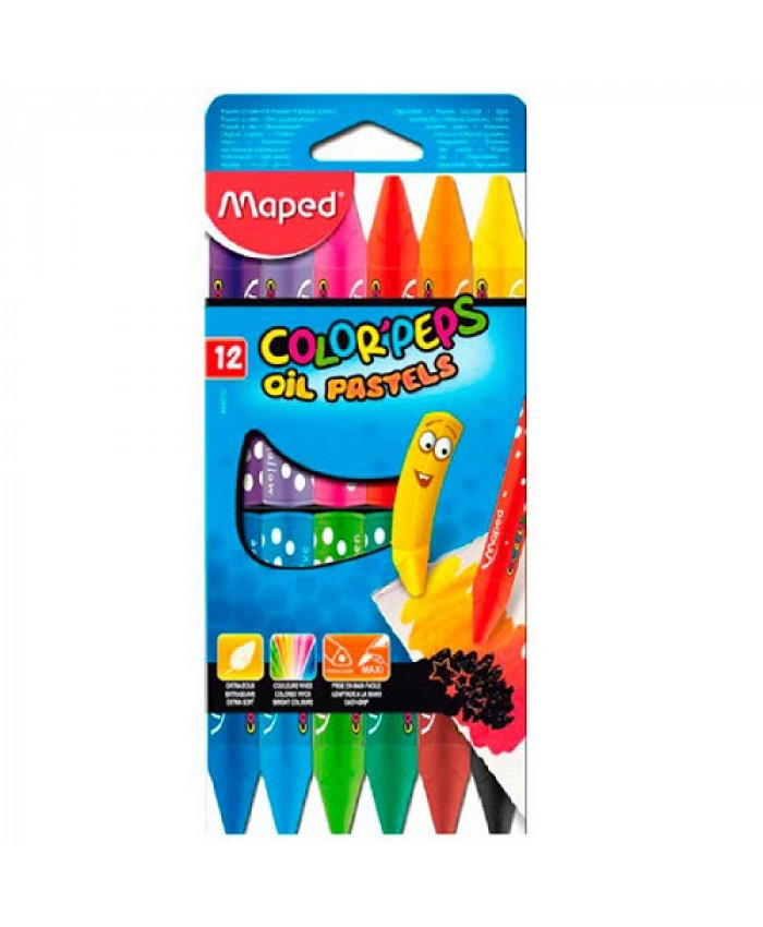 OLEO PASTEL COLOR'PEPS MAPED (12 COLORES)