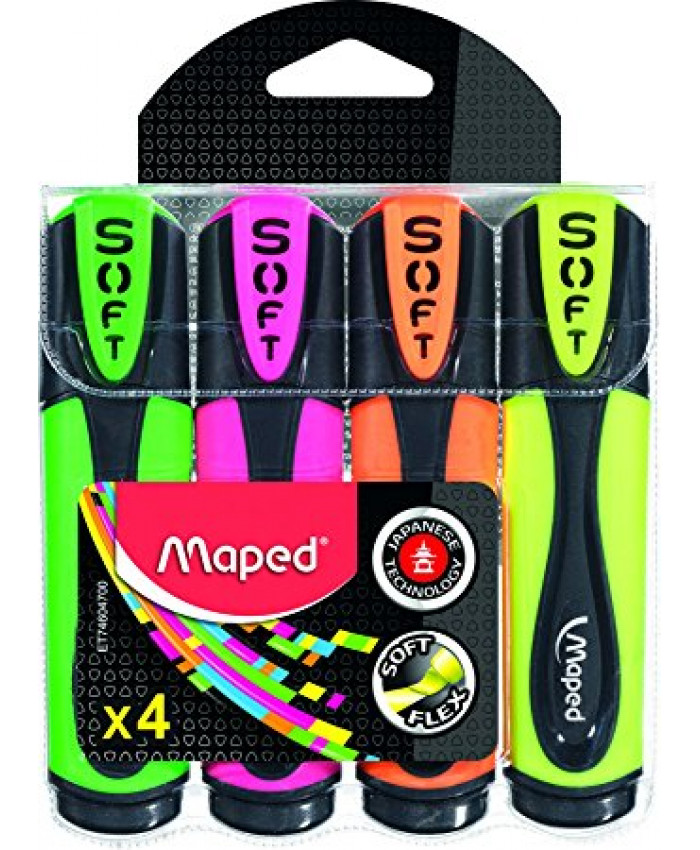 RESALTADORES MAPED ULTRA SOFT x 4