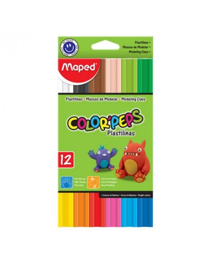 PLASTILINA MINERAL DE 12 COLORES - MAPED