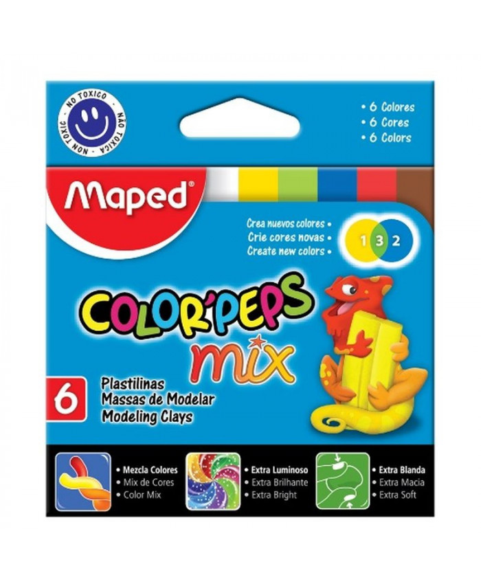 PLASTILINA  DE 6 COLORES - MAPED