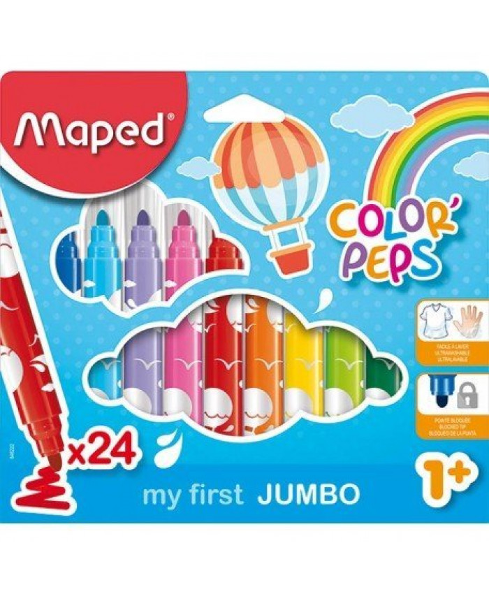 MARCADORES COLOR PEPS MAXI x 24 COLORES - MAPED
