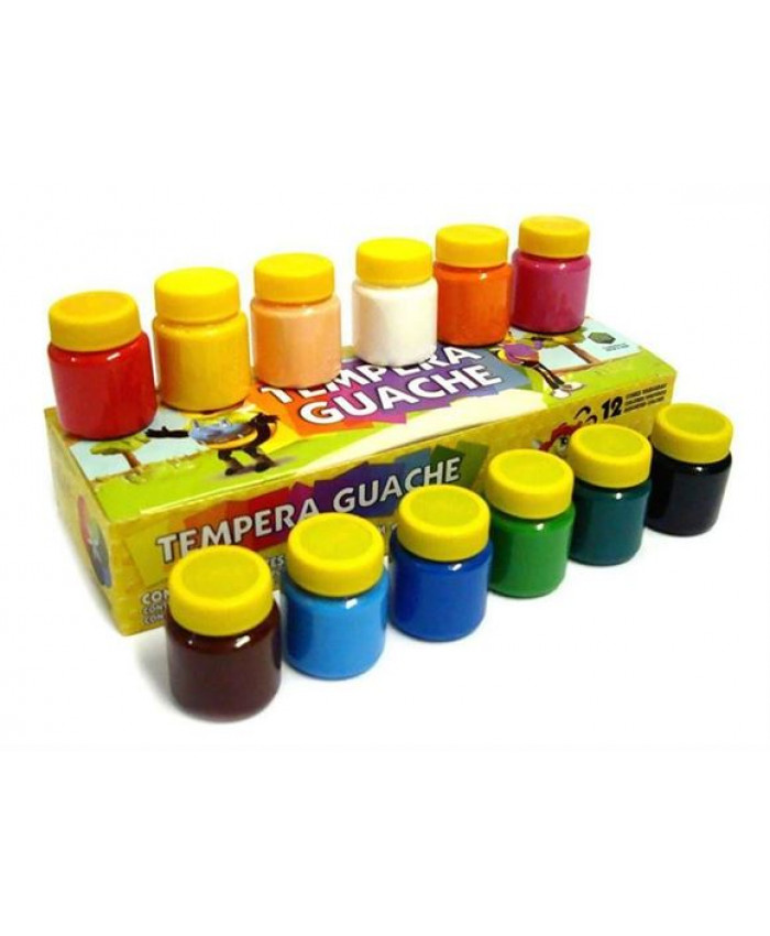 TEMPERA GUACHE ACRILEX | 12 COLORES  DE 15ML.