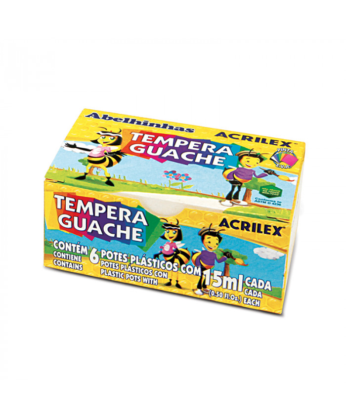 TEMPERA GUACHE ACRILEX | 6 COLORES  DE 15ML.
