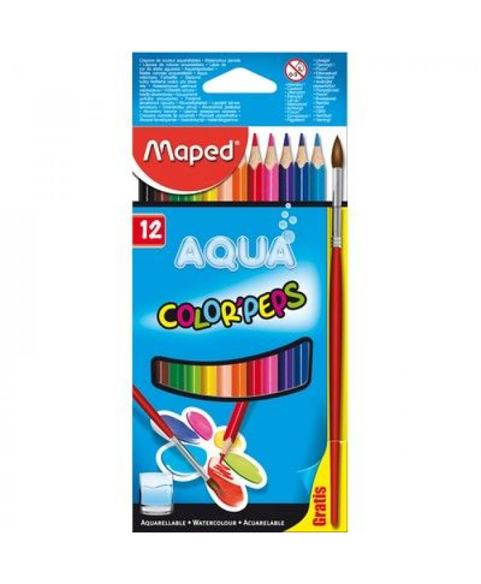 LÁPICES DE COLORES (12) ACUARELADOS | MAPED