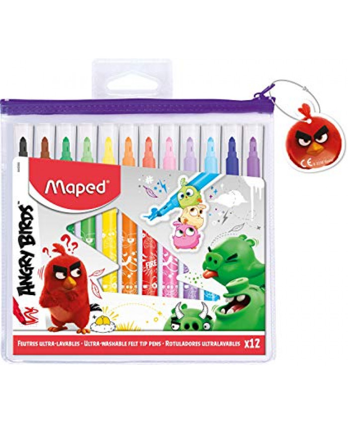 MARCADORES ANGRY BIRDS (12 COLORES) - MAPED