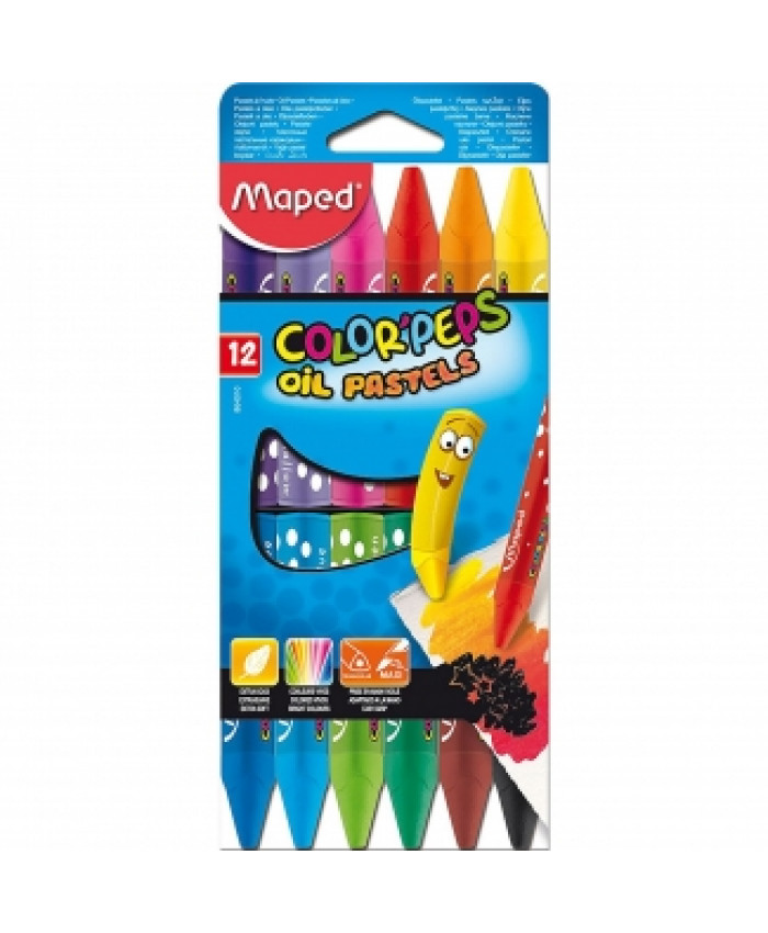 CRAYONES PASTEL (12 COLORES) | MAPED