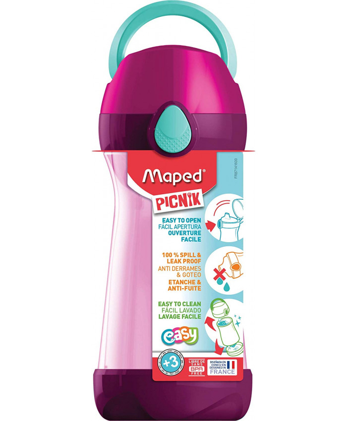 HOPPIE PICNIK PINK 430ML.CON MANIJA - MAPED