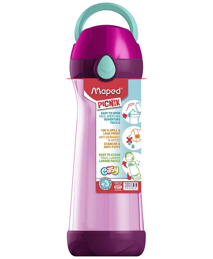 HOPPIE PICNIK PINK 580ML.CON MANIJA - MAPED