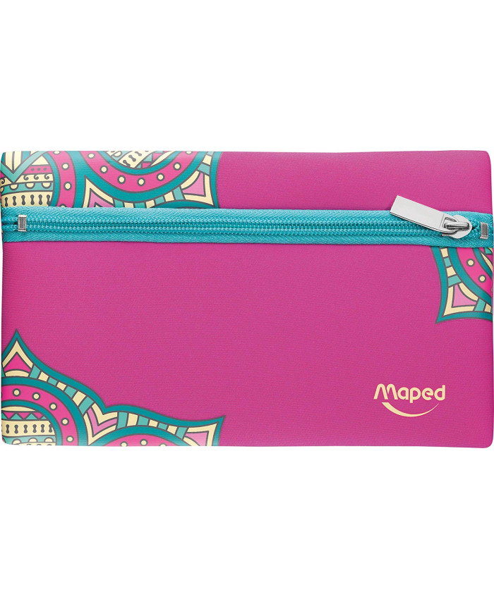 CARTUCHERA PLANA NEOPREN GIRL MANDALA (FUCSIA) | MAPED