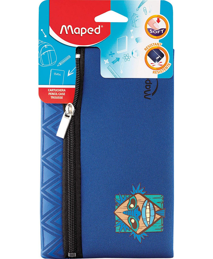 CARTUCHERA PLANA NEOPREN BOY  TOTEM (AZUL) | MAPED
