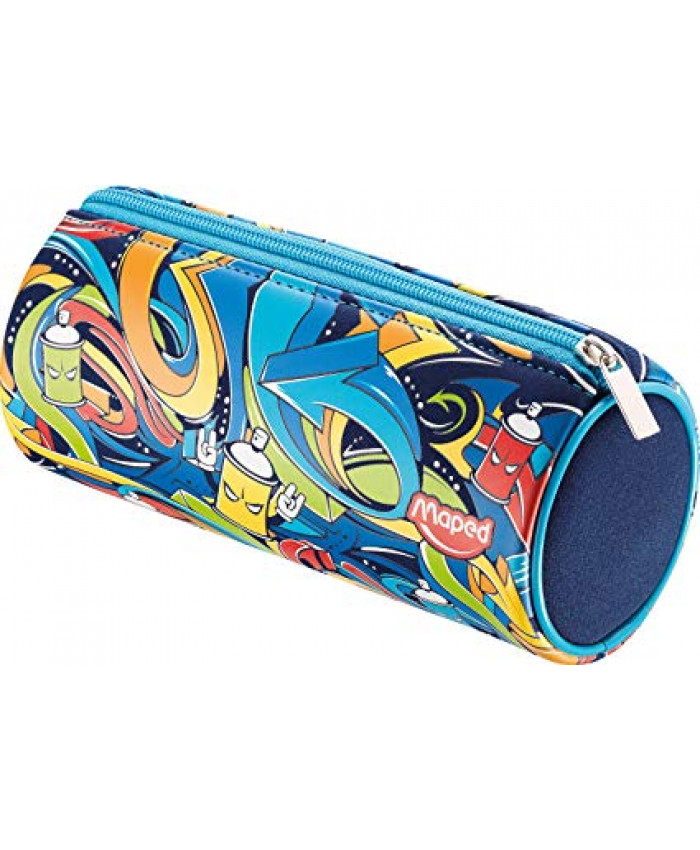 CARTUCHERA TUBO NEOPREN BOY STREET ART AZUL | MAPED