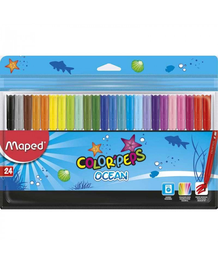 MARCADORES OCEAN X 24 COLORES - MAPED