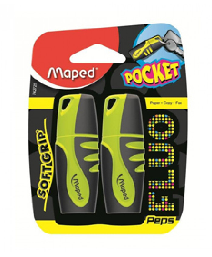 MARCA TEXTO POCKET SOFT SURTIDO BLISTER X2 - MAPED