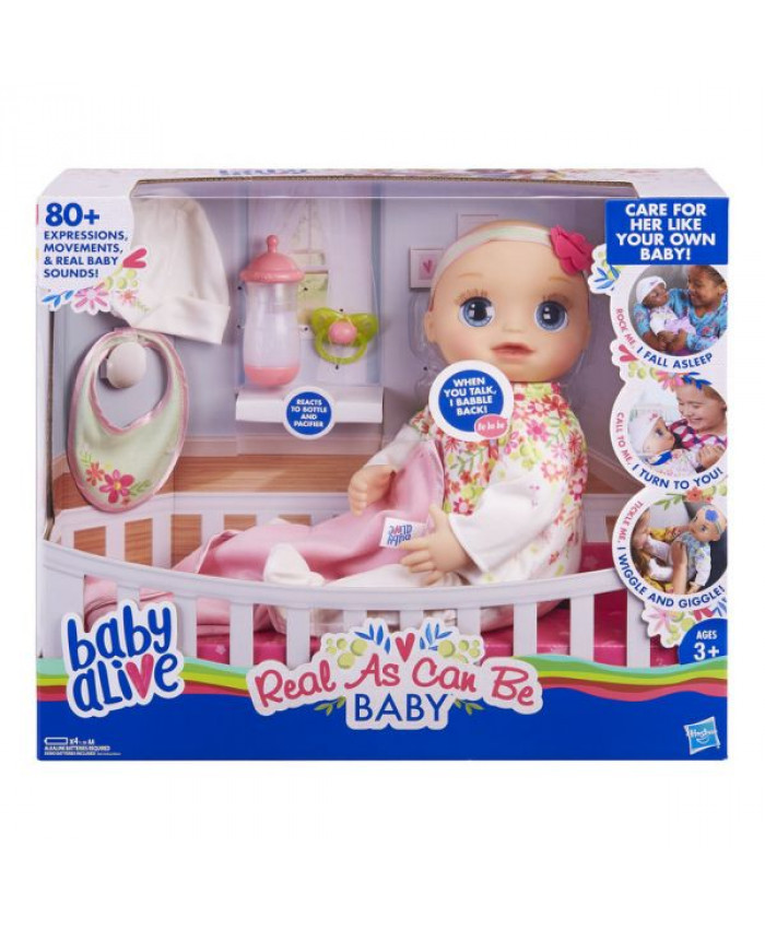 BABY ALIVE REAL AS CAN BE BABY BL