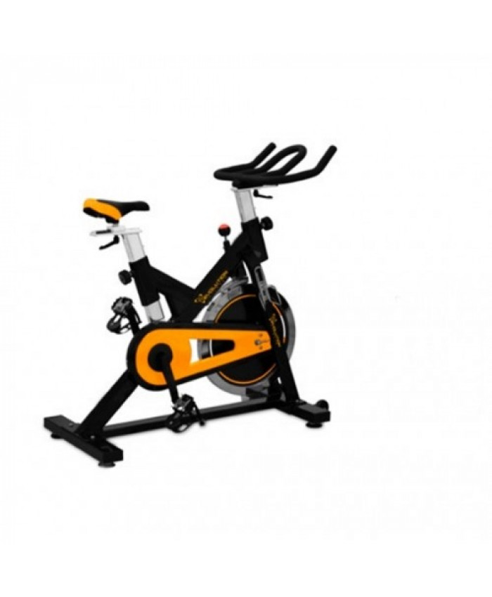 BICICLETA SPINNING SEMI PROFESIONAL EVOLUTION SP2600 130KG DISCO 18KG