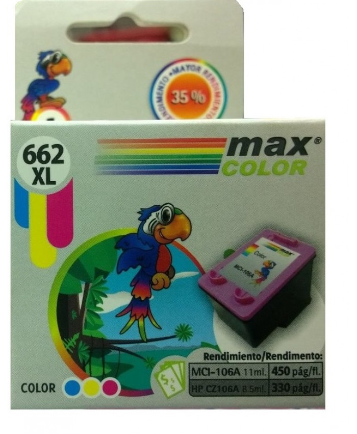 TINTA MAXCOLOR 662XL COLOR