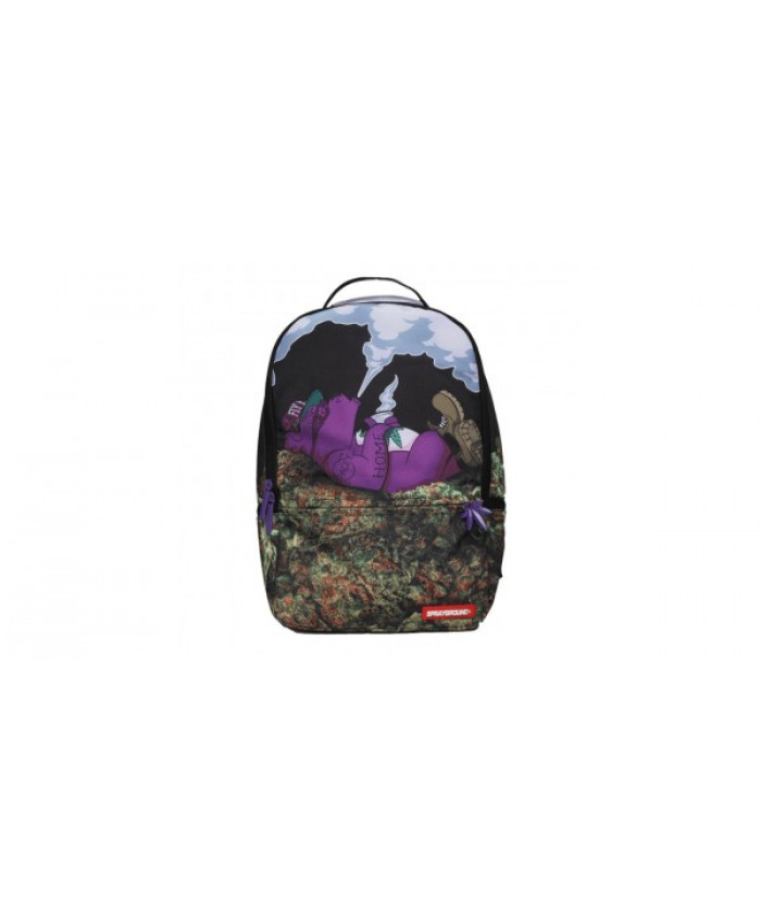MOCHILA SPRAYGROUND - PURPLE HAZE BEAR SITTIING ON GANGA