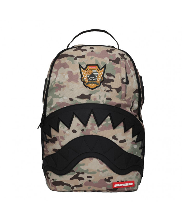 MOCHILA SPRAYGROUND - MULTICAMO RUBBER BLACK SHARK