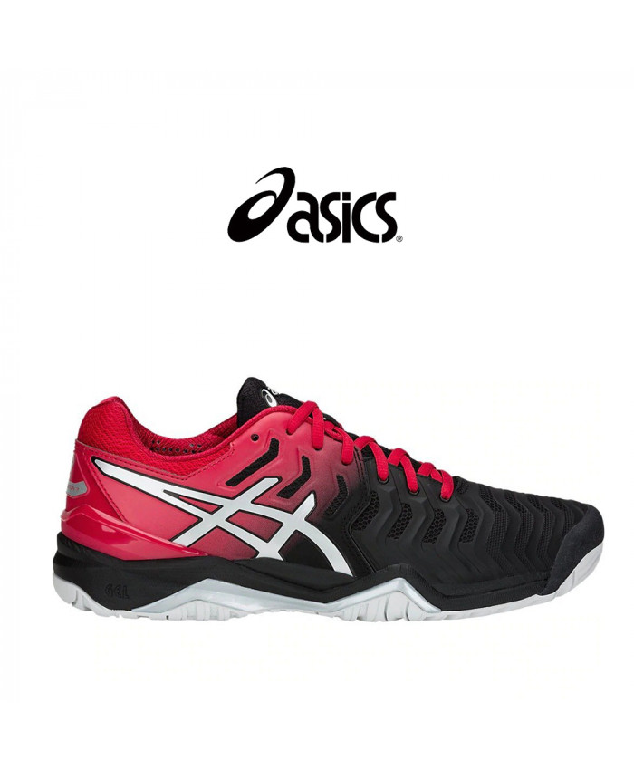 CALZADO ASICS MASCULINO- GEL-RESOLUTION 7 BLACK/SILVER