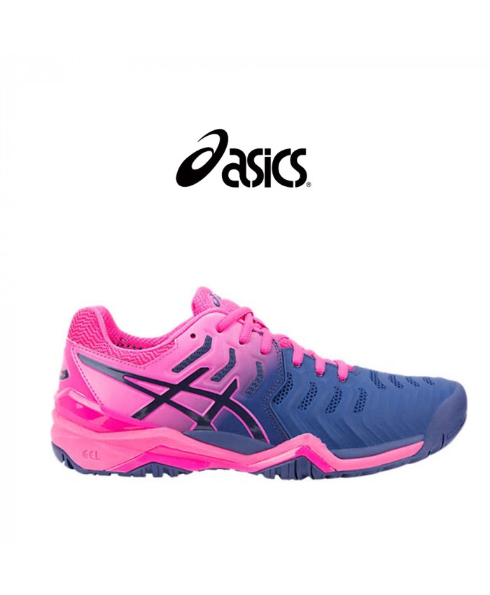 CALZADO ASICS FEMENINO - GEL-RESOLUTION 7 BLUE PRINT/BLUE PRINT