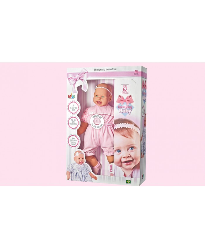 MUÑECA ROSE RING BABY 62 FRASES - MILK