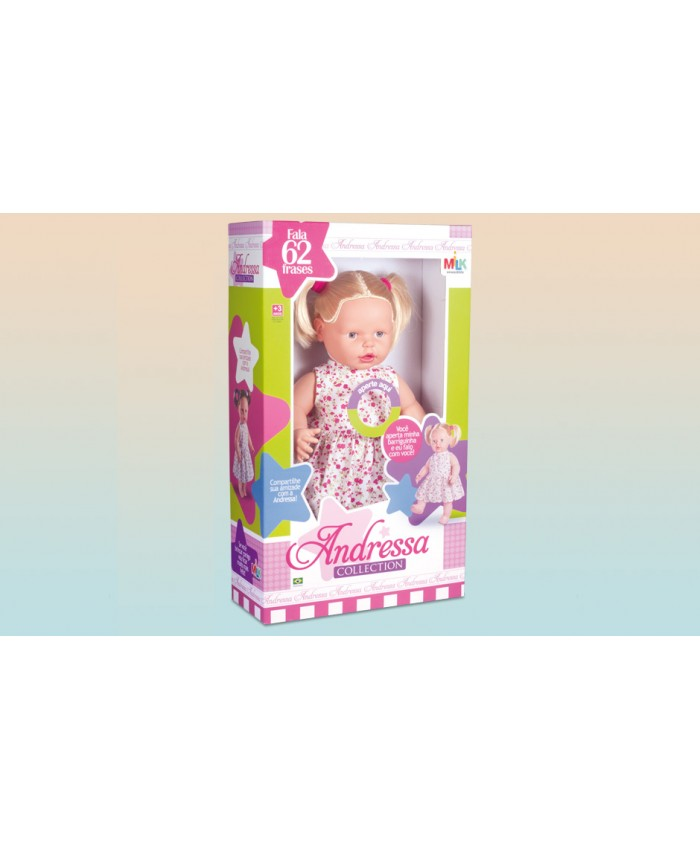 MUÑECA ANDRESSA COLLECTION CABELO LOIRO - MILK